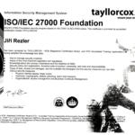 ISO Certifikace: ISO27000